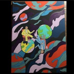 Floating in space painting